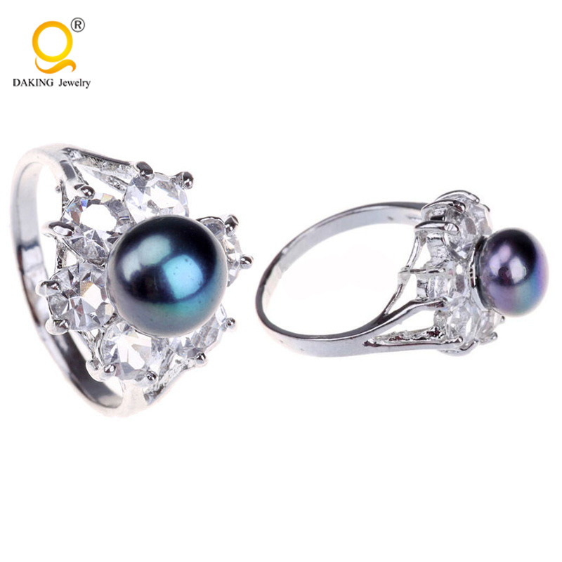 Artificial jwellery pearl ring mountings