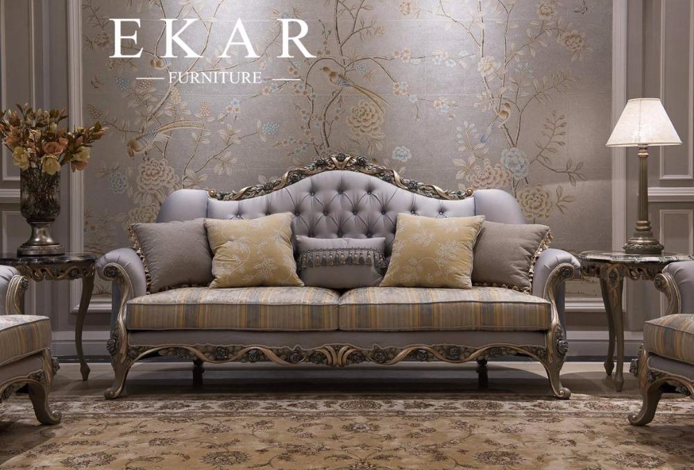 Estilo franc s espa ol ingl s europea tejido sof for Sofa estilo frances