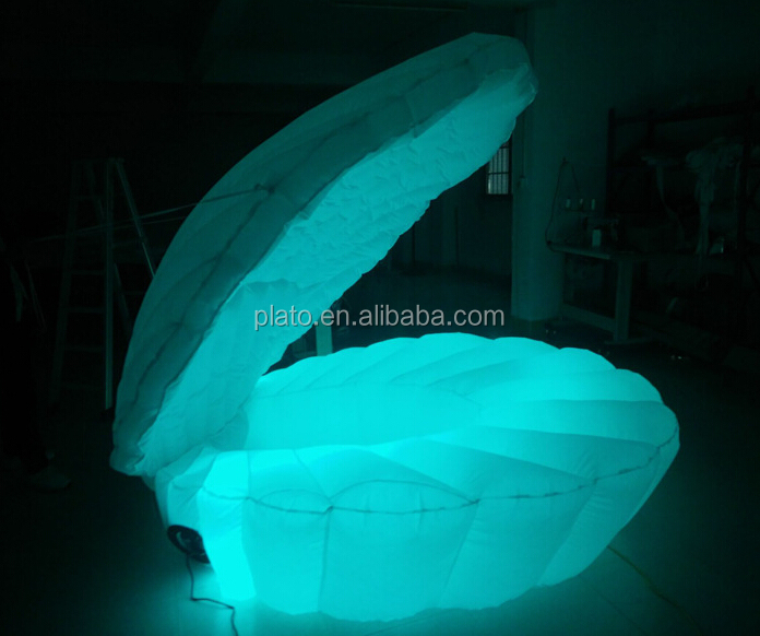 Party decoration inflatable sea animal,inflatable led light seashell