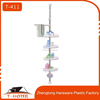 4 layers Stainless steel telescopic bathroom corner shelf