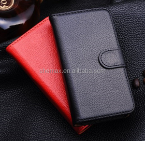 Lychee Texture Flip PU Leather Cover Case for Motorola Maxx XT910