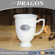 2016 New style cheap top qualty eco friendly decoration reusable white ceramic coffee custom mug