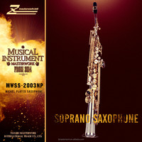 Bb tone rose soprano sax from china supplier