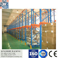 Drive-in racking system heavy duty metal pallet rack storage