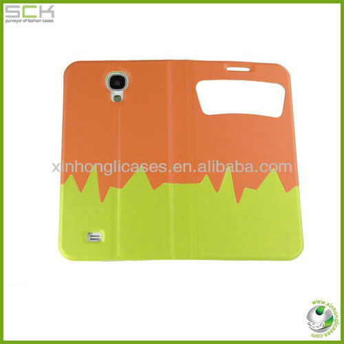 New color leather window Case Cover for Samsung Galaxy S4 SIV i9500