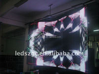 stage background P16 smd transparent led display