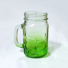 Manufacturer direct sale 500ml with handle straw mason jar