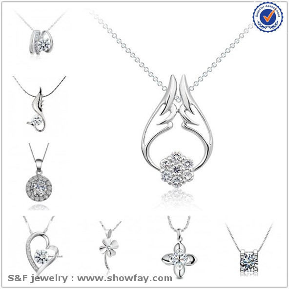 Factory Price s925 Silver Jewelry Real White Gold Plated 925 Sterling Silver Jewelry