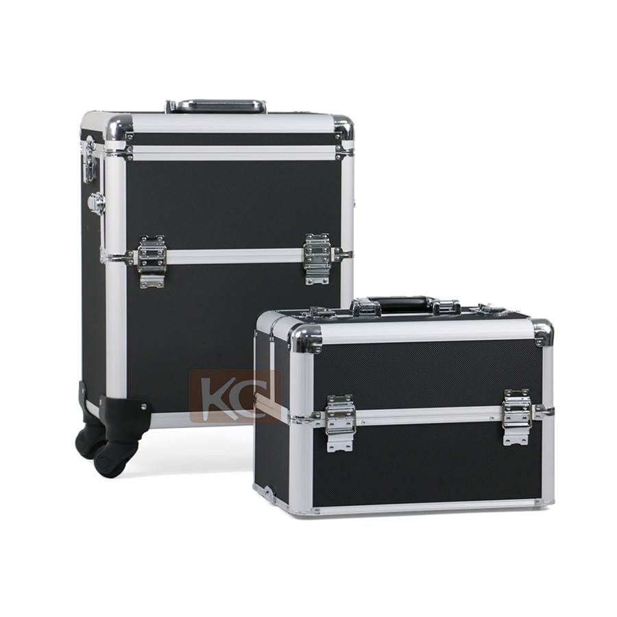 Travel Trolley Rolling luggage Aluminum luggage Cosmetic Case beauty case makeup case, Professional cosmetic box beauty box