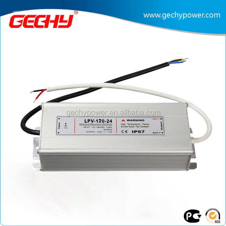LPV-120 series 120W 12v,24v,36v,48v,IP67 AC/DC LED driver constant voltage waterproof switching power supply