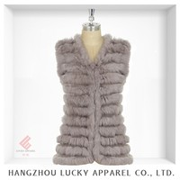 lady women fashion real rabbit fur vest ZW15036