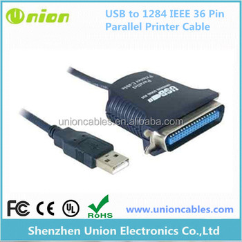 USB to 1284 IEEE 36 Pin CN36 25 Pin DB25 Parallel Printer Adapter Cable