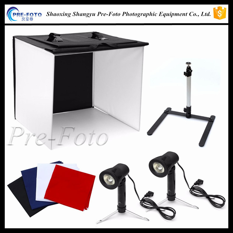 "Photo Studio 16"" Photography Light Tent Backdrop Kit 40cm Cube Light In A Box"