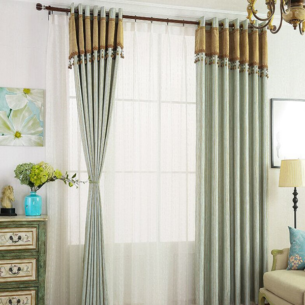 Hot sale latest curtain design for living room