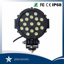 Imported Chips Toughend Glass Lens IP67 Spot Flood Beam 6500K 51W 7 Inch Round 24V LED Truck Lights