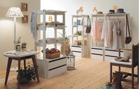 CR206 Hot sale new design wooden coat rack with two drawers, cot rack stand, clothes stand