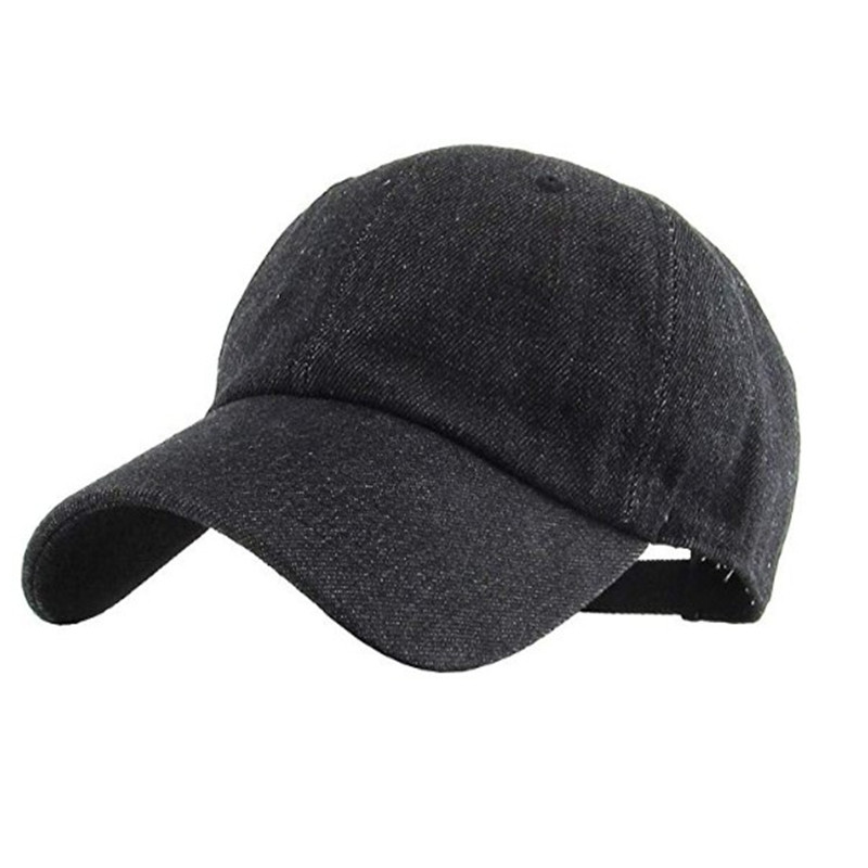 Promo custom wholesale black baseball cap