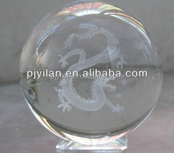 elegant K9 Crystal glass 3d laser engraved ball Constellations china zodic sign dragon terrarium 3d zodic sign ornament