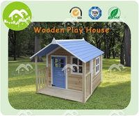 cheap wooden cottage, newly-design playhouse for kids outdoor