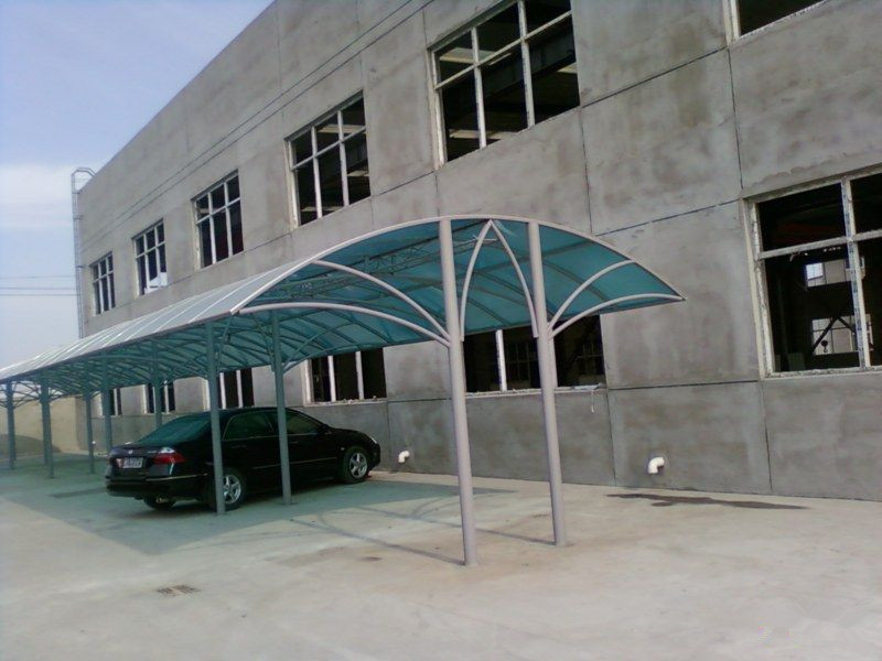 metal two cars canopy