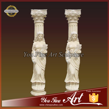 Decorative Stone Roman Marble Columns for Sale