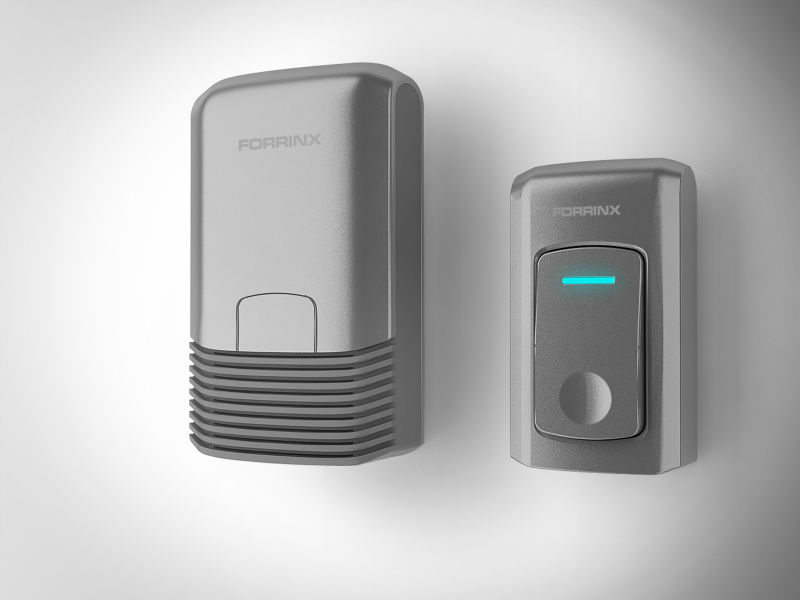 Forrinx doorbell using the traditional design overall design parsimony appears to be agile