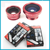 Best selling! hot 3 in1 wide Angle macro mobile phone accessories fish eye lens