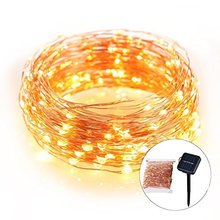 33ft long Solar recharged LED Outdoor String Lights multi-color Waterproof christmas light bulb covers
