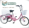"24"" retroo vintage bicycle lady Adult tricycle/OEM CE Shopping Tricycle/ utility Delivery trike for elderly /GW7015-7 speeds"
