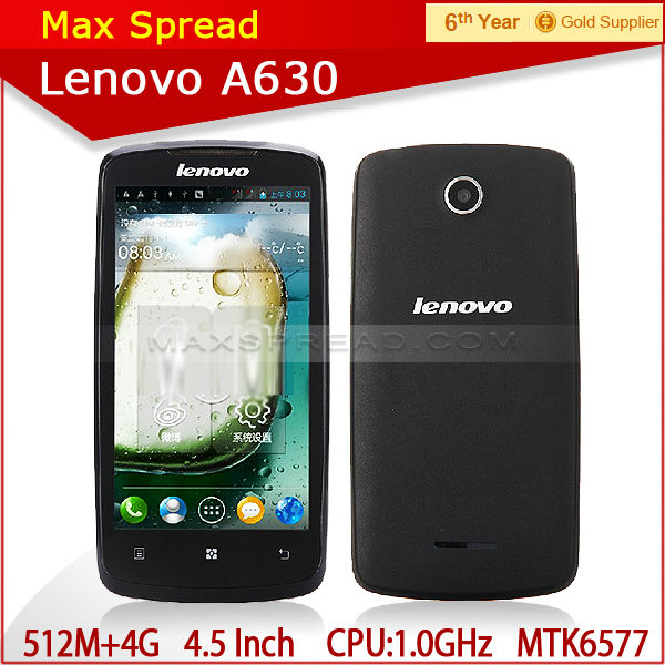 4.5 Inch Original Lenovo A630 512MB RAM/4GB ROM Android 4.0 Mobile Phone brand smart cell phone