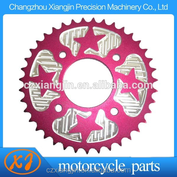 light weight 42t motorcycle sprocket with your logo lasered