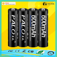 Factory direct sale 1.2V 600mAh AAA NIMH rechargeable battery with packaging