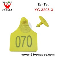 Livestock cow ear tag with laser printing number cow ID tag animal ear tag