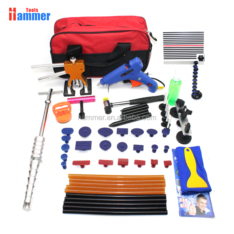 56pcs PDR Paintless Dent Repair Removal Tools Line Board dent lifter Hail Removal <strong>Kit</strong>