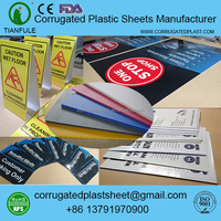 Campaign Yard Sign Substrate Polypropylene Corrugated Plastic Sheet