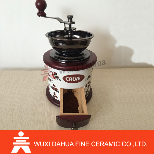 One hand use mini ceramic coffee grinder
