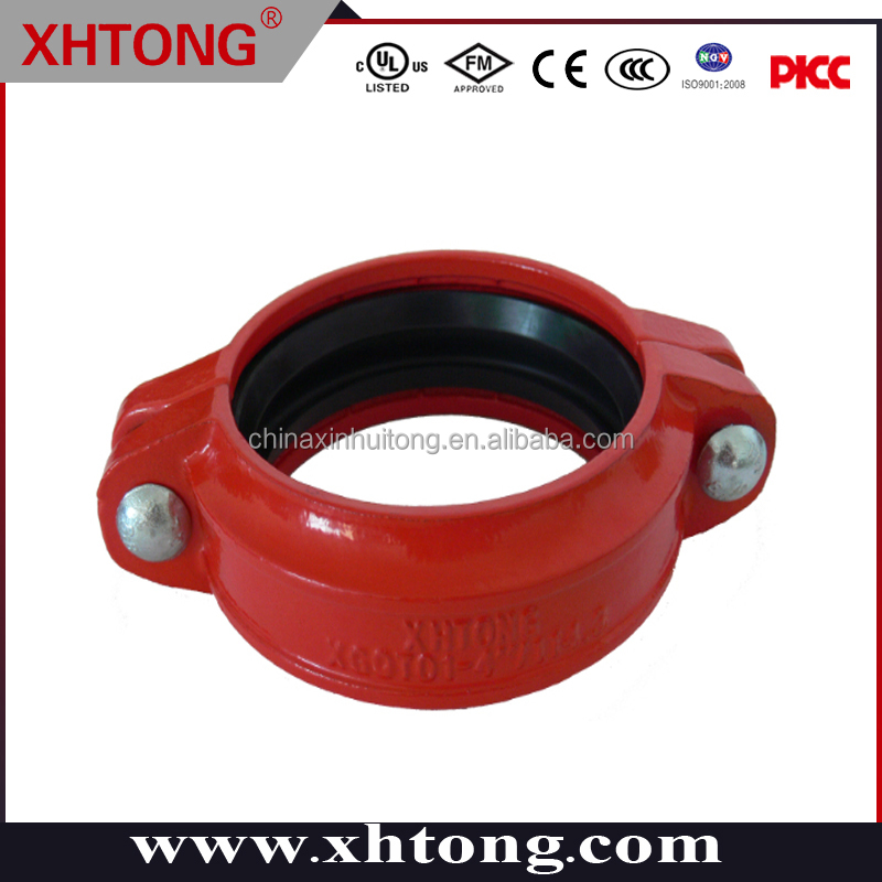 Casting iron Pipe Fitting Chemical industry rigid ductile iron fire hose coupling 4''
