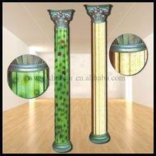 Frp Decoration marble tone none PU Roman Column /Home decor/indoor plastic decorative column