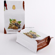 flexible printing flat bottom side gusset bag for dry fruit plastic dried nuts packaging bags