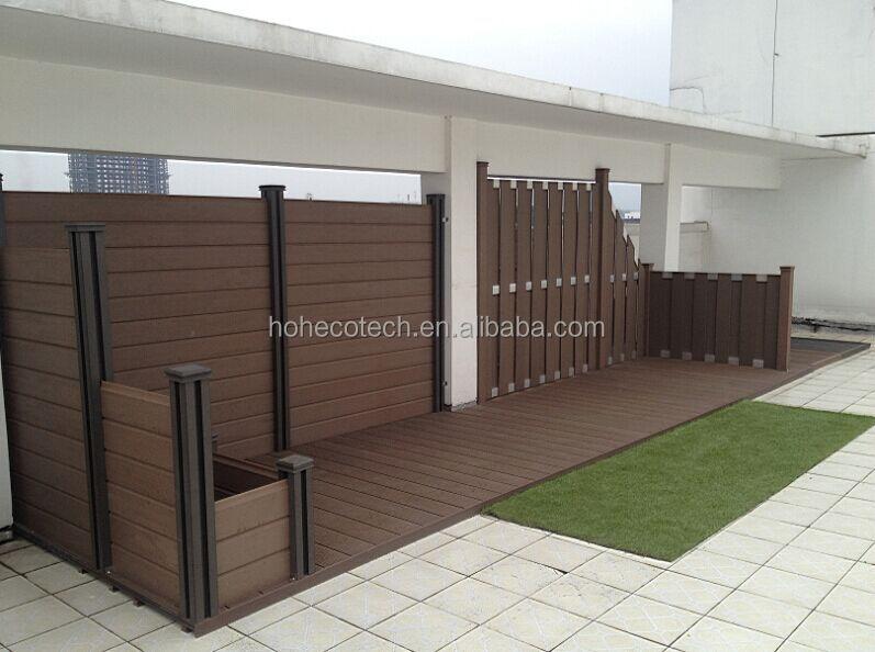 Resistente e impermeabile composito legno ringhiera - Ringhiera in legno per giardino ...