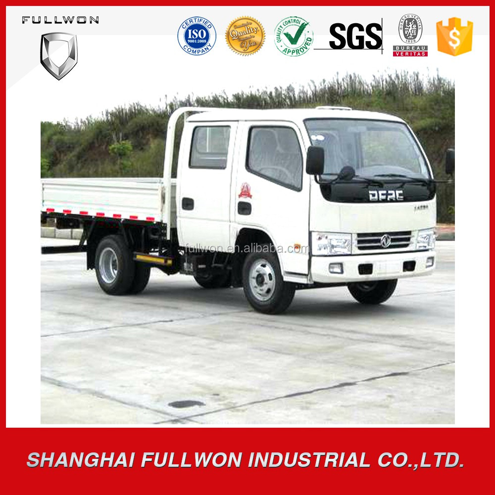 Widely used Dongfeng 4X2 double cab light truck 3270*1880*400mm cargo box