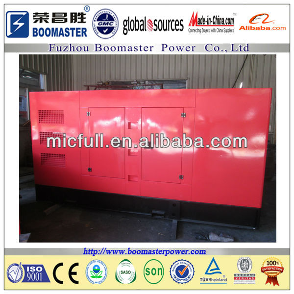 Competitive price soundproof generator 250kva 200kw soundproof diesel generator