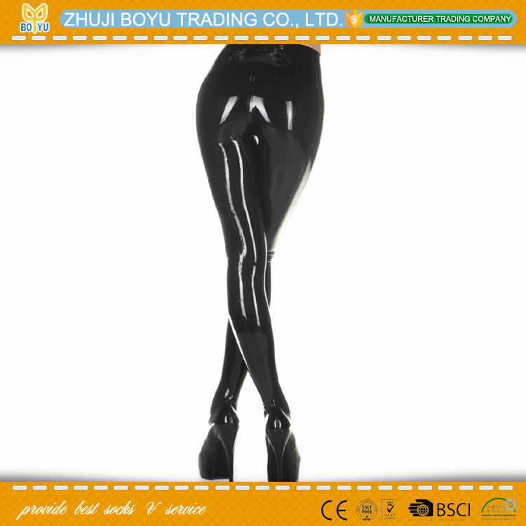 BY-T-0315 latex tights for women