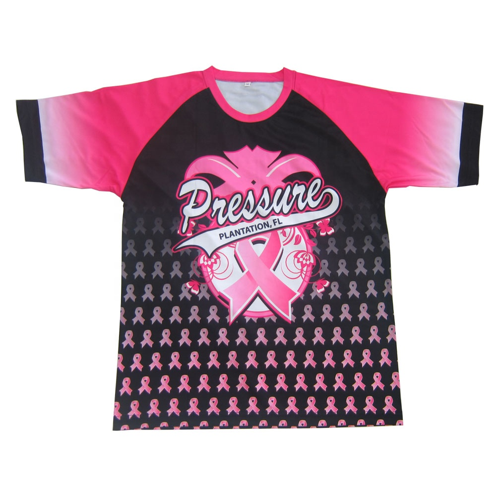 air cool sublimated breast cancer softballl jersey men team wear