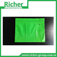 Green Vacuum Sealing Zip Lock Plastic Bags