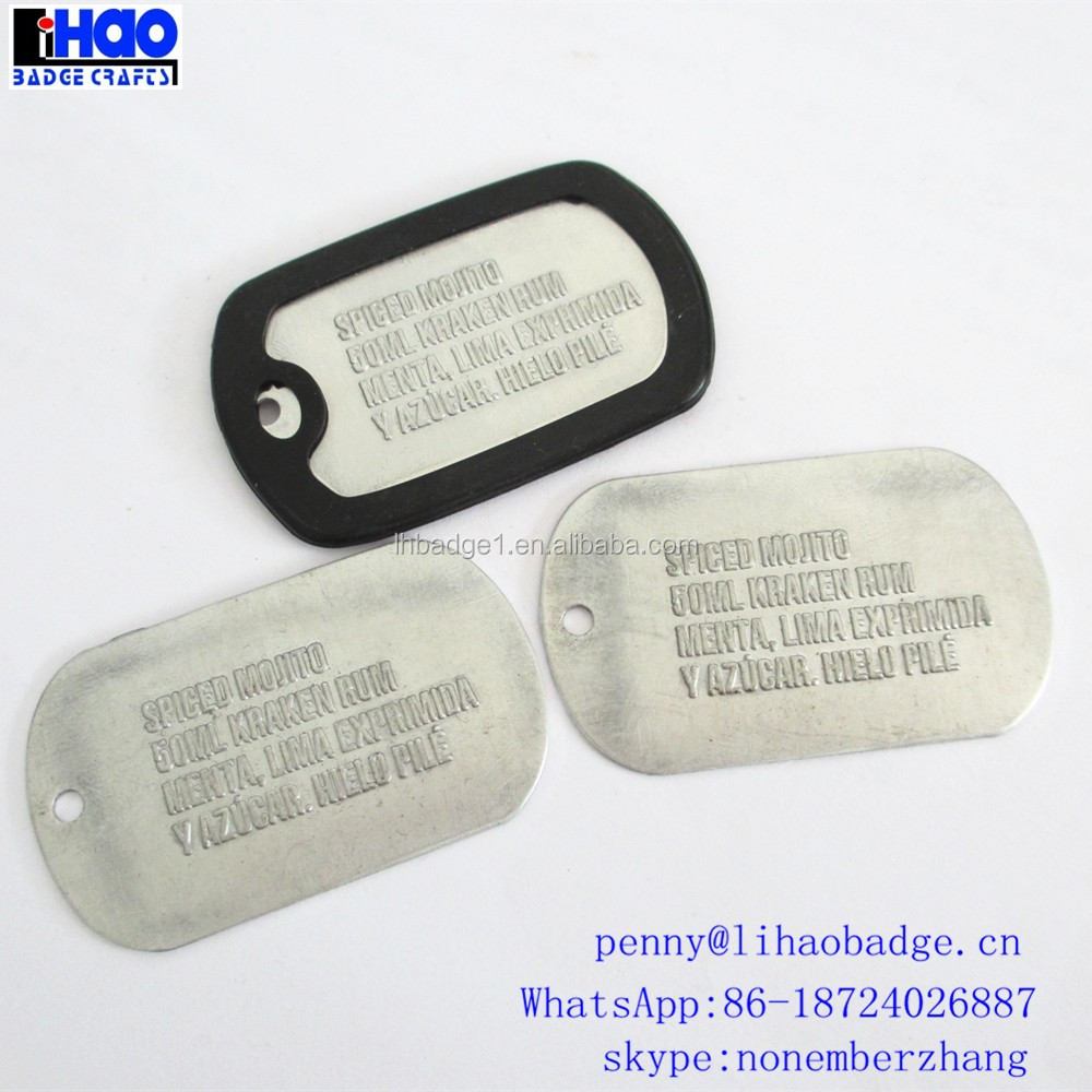 Hot Sale Printed Silicone Dog Tag for promotion
