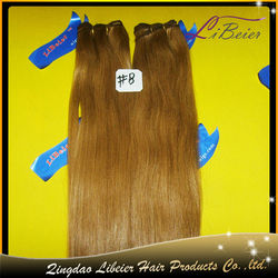 fashion 100% human hair #8 silky straight wholesale price hair dealers