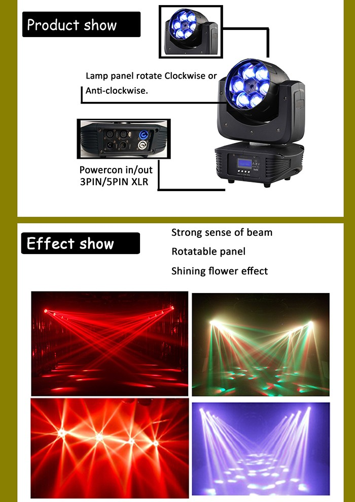 High popular 6x15w 4in1led moving head bee eye beam light for stage