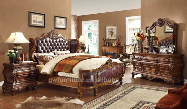 bedroom furniture wood with pole