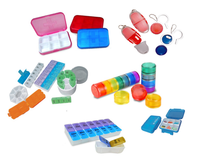 Saferlife muti size travel medicine case 7 days PP pill box 14 days ABS pill organizer 28 days plastic pill dispenser